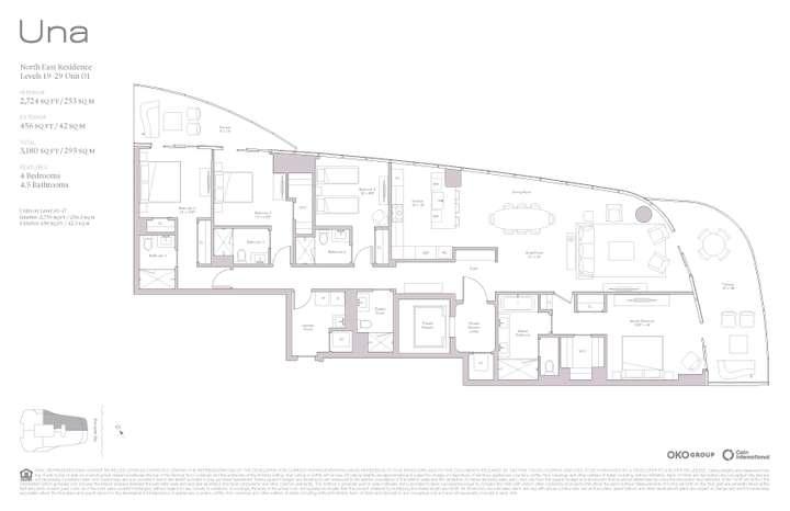 Una Residences 01 NE Residence Levels 19-37