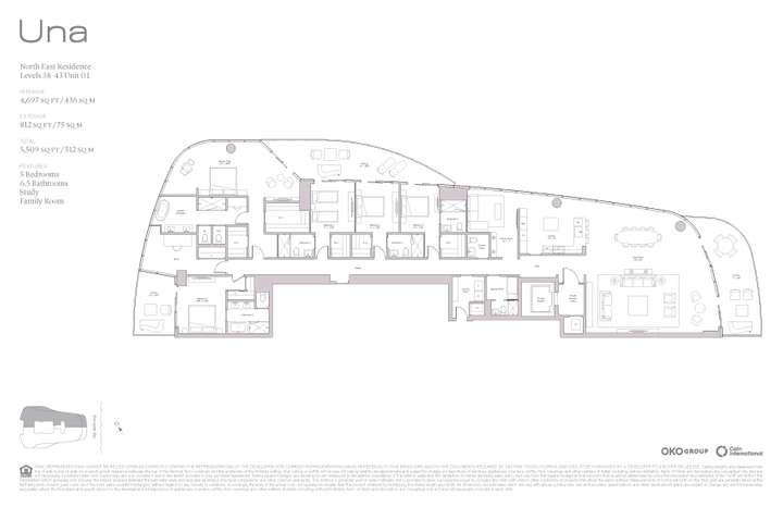 Una Residences 01 NE Residence Levels 38-43