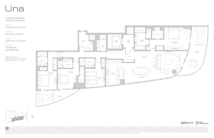 Una Residences 02 SE Residence Levels 19-37