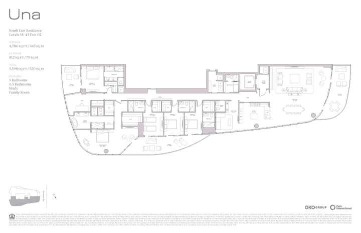 Una Residences 02 SE Residence Levels 38-43