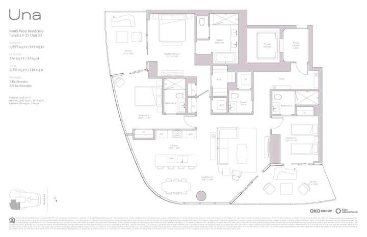 Una Residences 03 SW Residence Levels 19-37