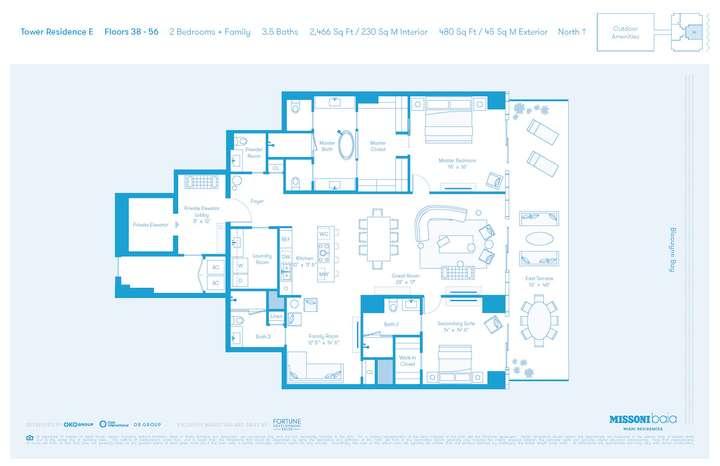 MISSONIbaia Miami, Florida, USA   E Floors 38-56 2 bed + Family 3.5 baths