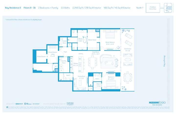 MISSONIbaia Miami, Florida, USA   E Floors 8-36 2 bed + Family 3.5 baths