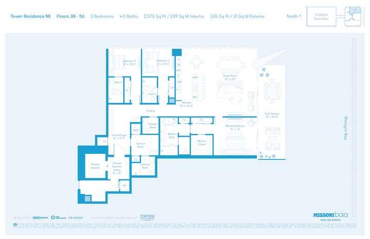MISSONIbaia Miami, Florida, USA   NE Floors 38-56 3 bed 4.5 baths