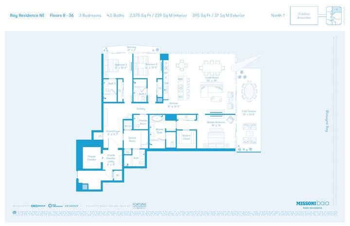 MISSONIbaia Miami, Florida, USA   NE Floors 8-36 3 bed 4.5 baths