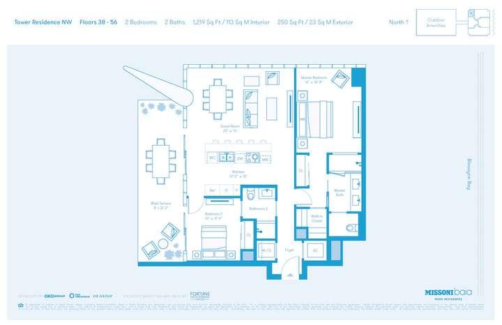 MISSONIbaia Miami, Florida, USA   NW Floors 38-56 2 bed 2 baths