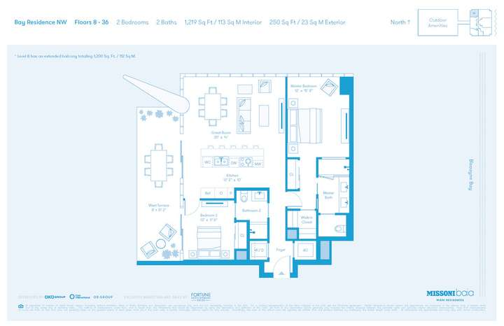 MISSONIbaia Miami, Florida, USA   NW Floors 8-36 2 bed 2 baths
