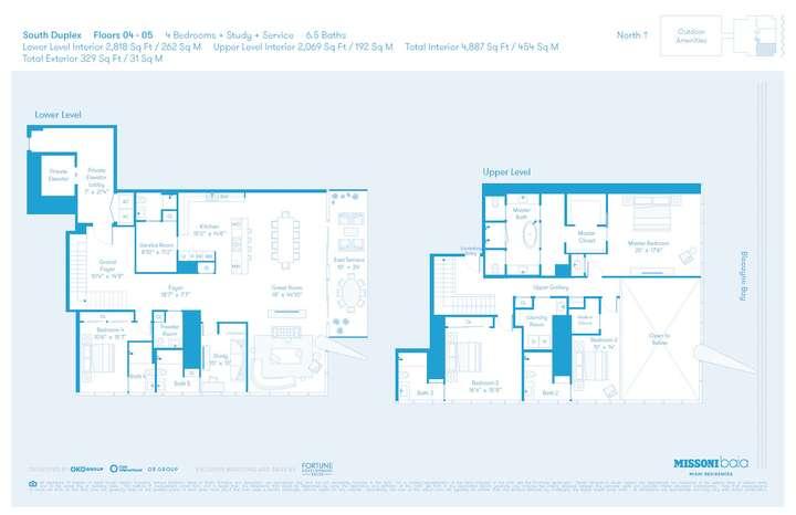 MISSONIbaia Miami, Florida, USA   S Duplex Floors 4-5 4 + Study + Service bed 6.5 baths