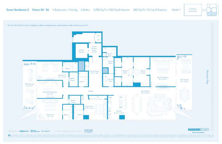 MISSONIbaia Miami, Florida, USA   S Floors 38-56 4 bed + Family 6 baths