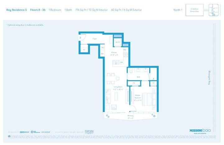 MISSONIbaia Miami, Florida, USA   S Floors 8-36 1 bed 1 baths