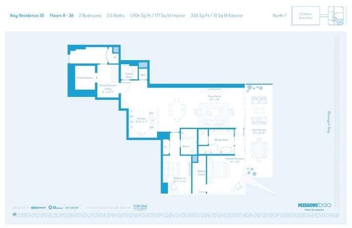 MISSONIbaia Miami, Florida, USA   SE Floors 8-36 2 bed 2.5 baths