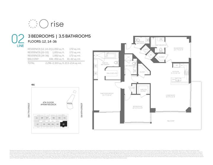 Rise BCC 02 line 3 bed 3.5 bath