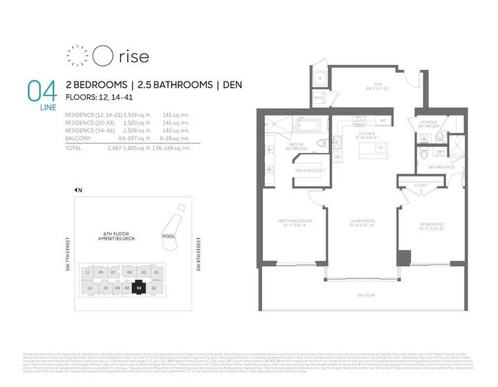 Rise BCC 04 line 2 bed 2.5 bath