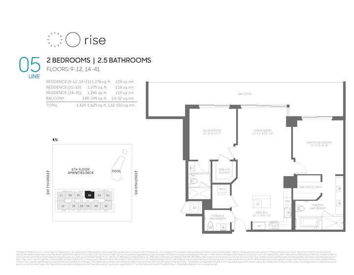 Rise BCC 05 line 2 bed 2.5 bath