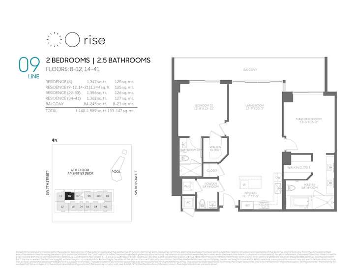 Rise BCC 09 line 2 bed 2.5 bath