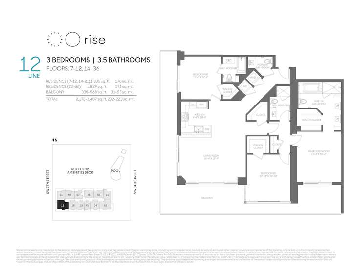 Rise BCC 12 line 3 bed 3.5 bath